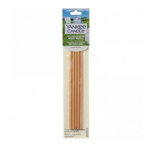 Yankee Candle Pre Fragranced Reed Refill Clean Cotton