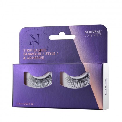 Nouveau Lashes Strip Lashes Glamour / Style 1