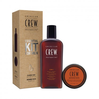 American Crew Essential Kit for Men with Defining Paste