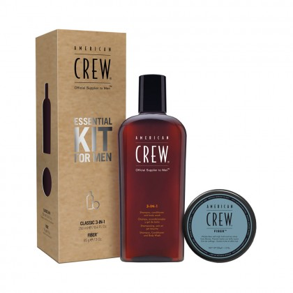 American Crew Essential Kit For Men with Fiber