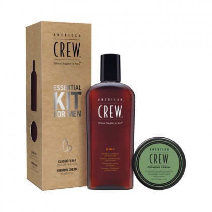 American Crew Essential Kit For Men with Forming Cream