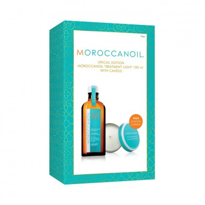 Moroccanoil Treatment Light 100ml with Free Candle