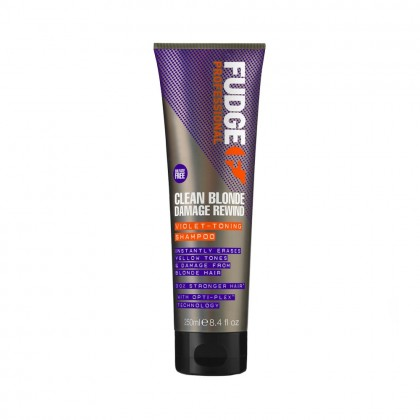 Fudge Clean Blonde Damage Rewind Violet Toning Shampoo 250ml