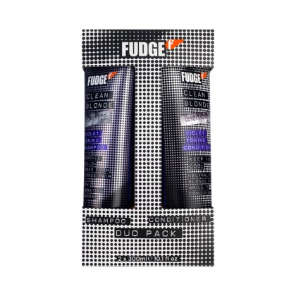 NEW Fudge Clean Blonde Violet Duo 2 x 300ml