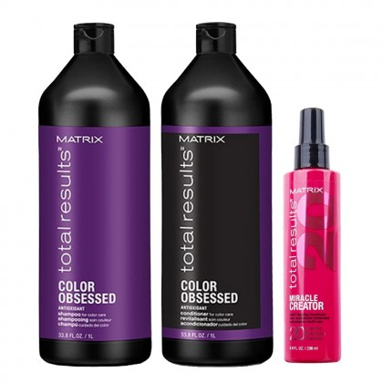 Matrix Total Results Color Obsessed Shampoo & Conditioner and Miracle Creator