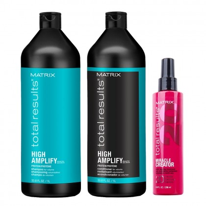 Matrix Total Results High Amplify Shampoo & Conditioner and Miracle Creator 200ml