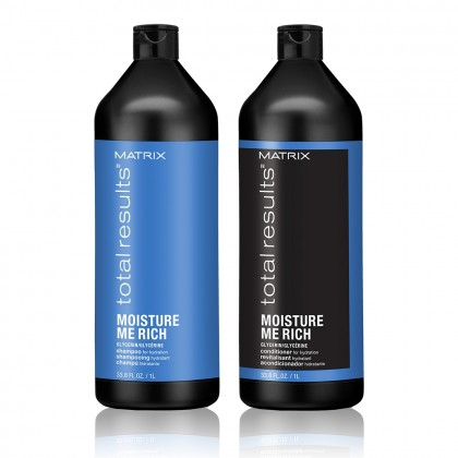 Matrix Total Results Moisture Me Rich Shampoo & Conditioner 1000ml