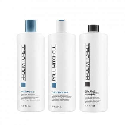 Paul Mitchell The Original & Freeze and Shine 1 Litre Trio