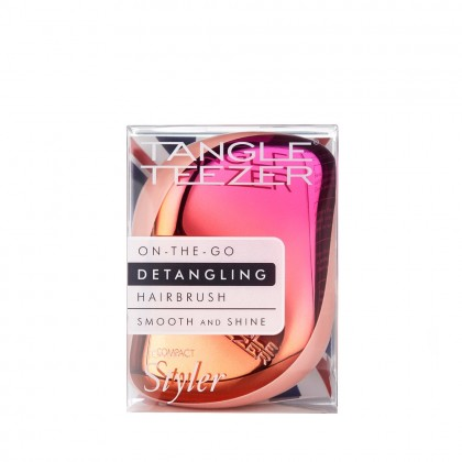 Tangle Teezer Compact Styler Detangling Hairbrush - Cerise Pink Ombre