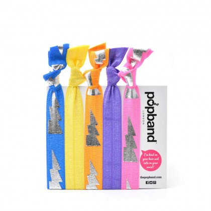 Popband London Electric Boogaloo Hair Ties Multi Pack