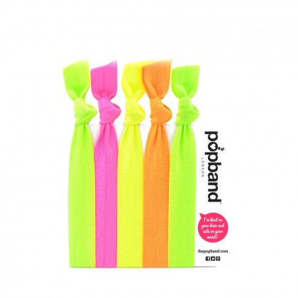 Popband London Glo Hair Ties Multi Pack