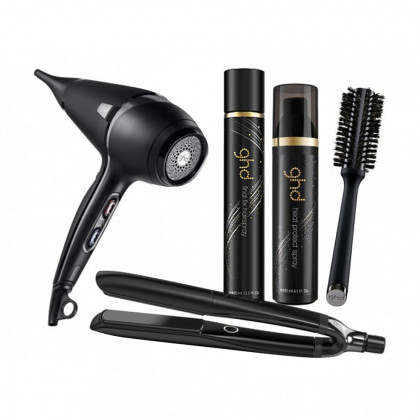 ghd Platinum+ Black and Air Bundle
