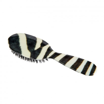 Rock & Ruddle Small Zebra Print Mixed Bristle Brush