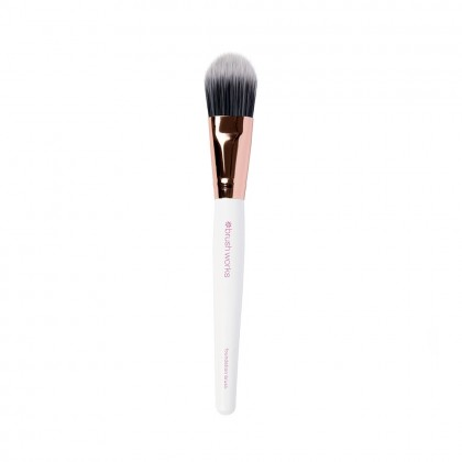 Brushworks White & Gold Foundation Brush