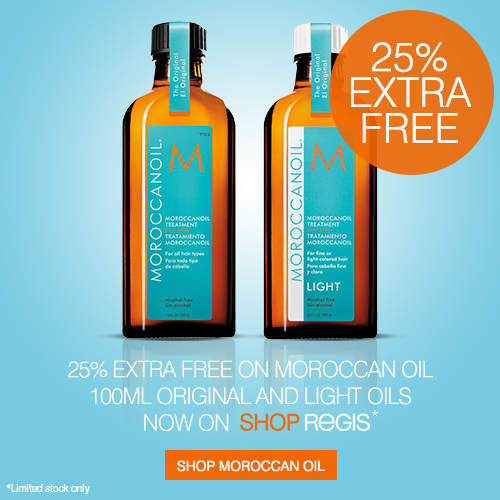 25 percent extra free with Moroccanoil