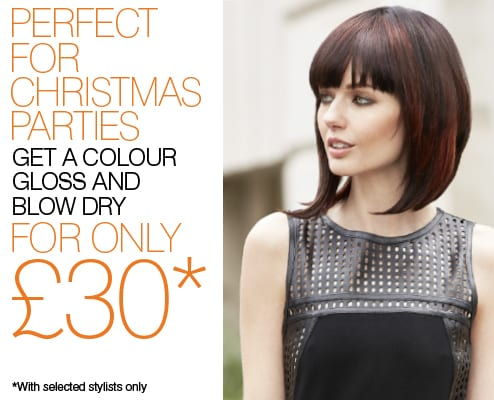 Gloss and blow dry offer  - View offer