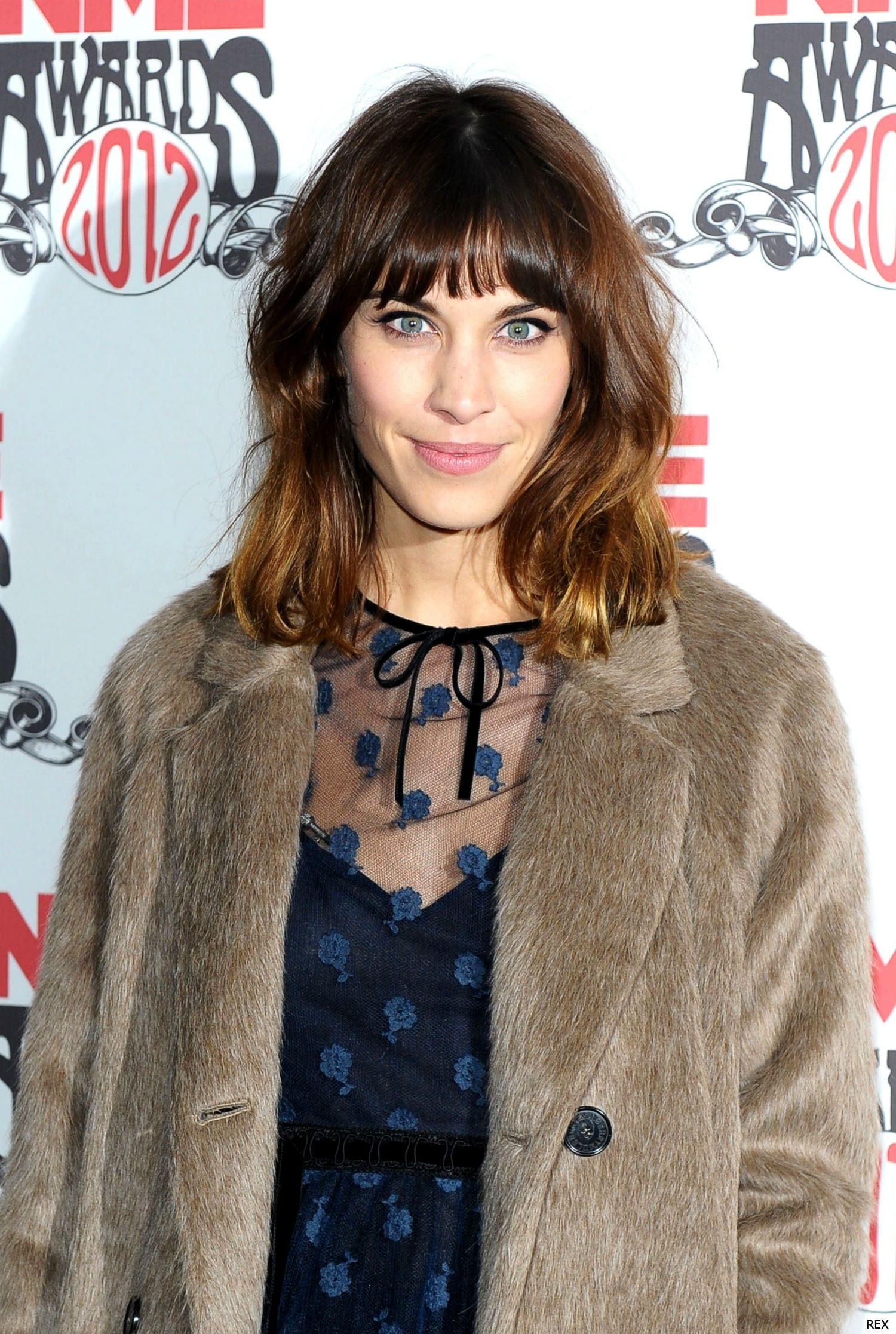 alexa chung and ombre hair at the nme awards