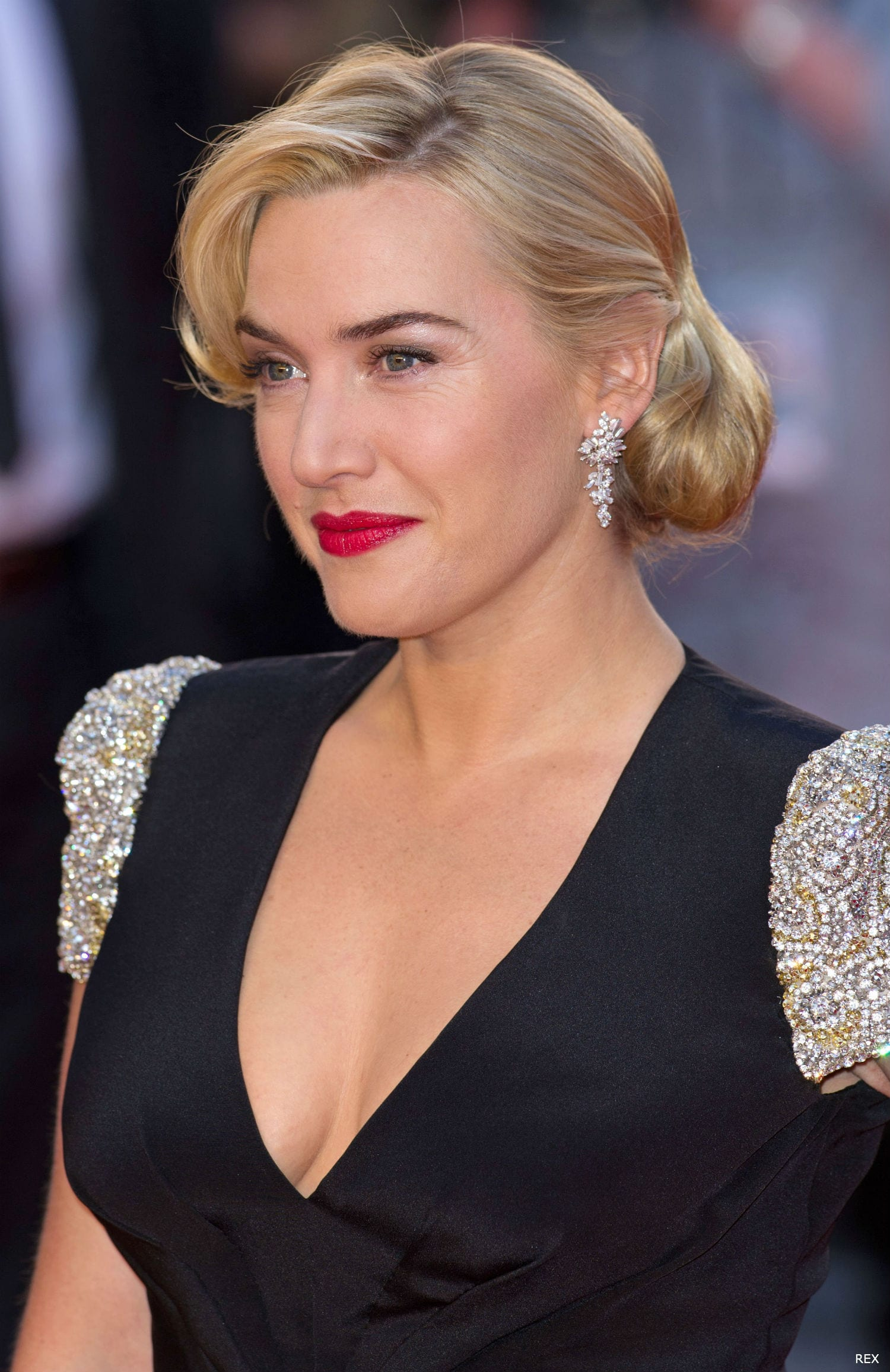 Kate Winslet at the Titanic 3D Premiere - 1940 Hairstyles