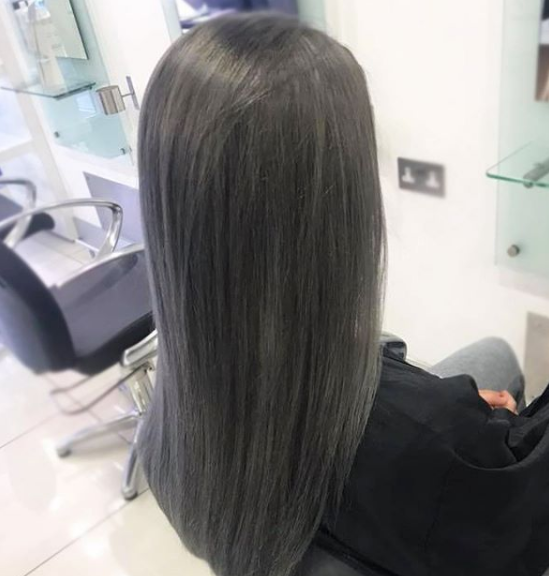 Ice Grey hair colour