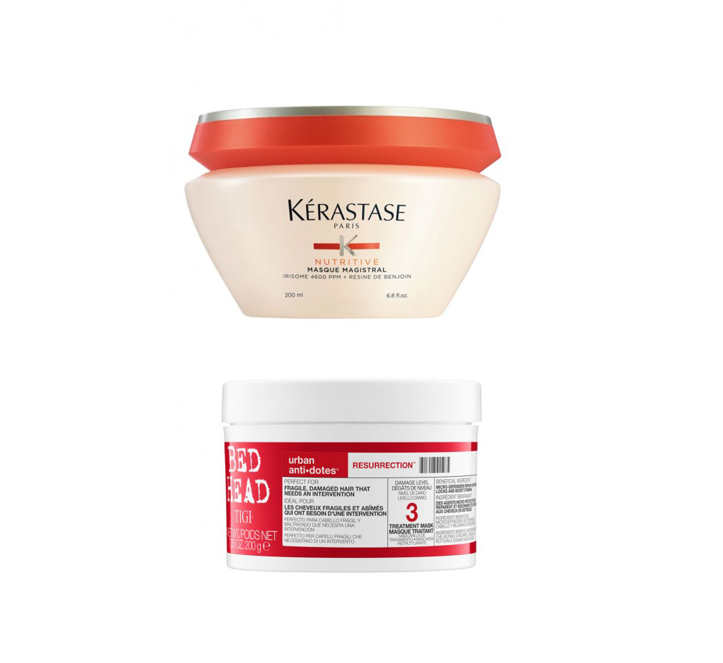 Kerastase Nutritive Masque and TIGI BedHead Urban Antidotes Resurrection Treatment Mask