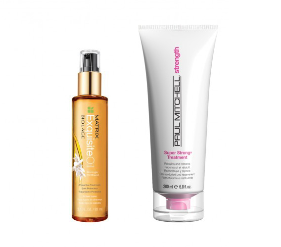 Matrix Exquisiteoil Protective Treatment and Paul Mitchell Super Strong Treatment