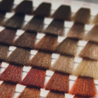 Palette of various patterns of coloured hair