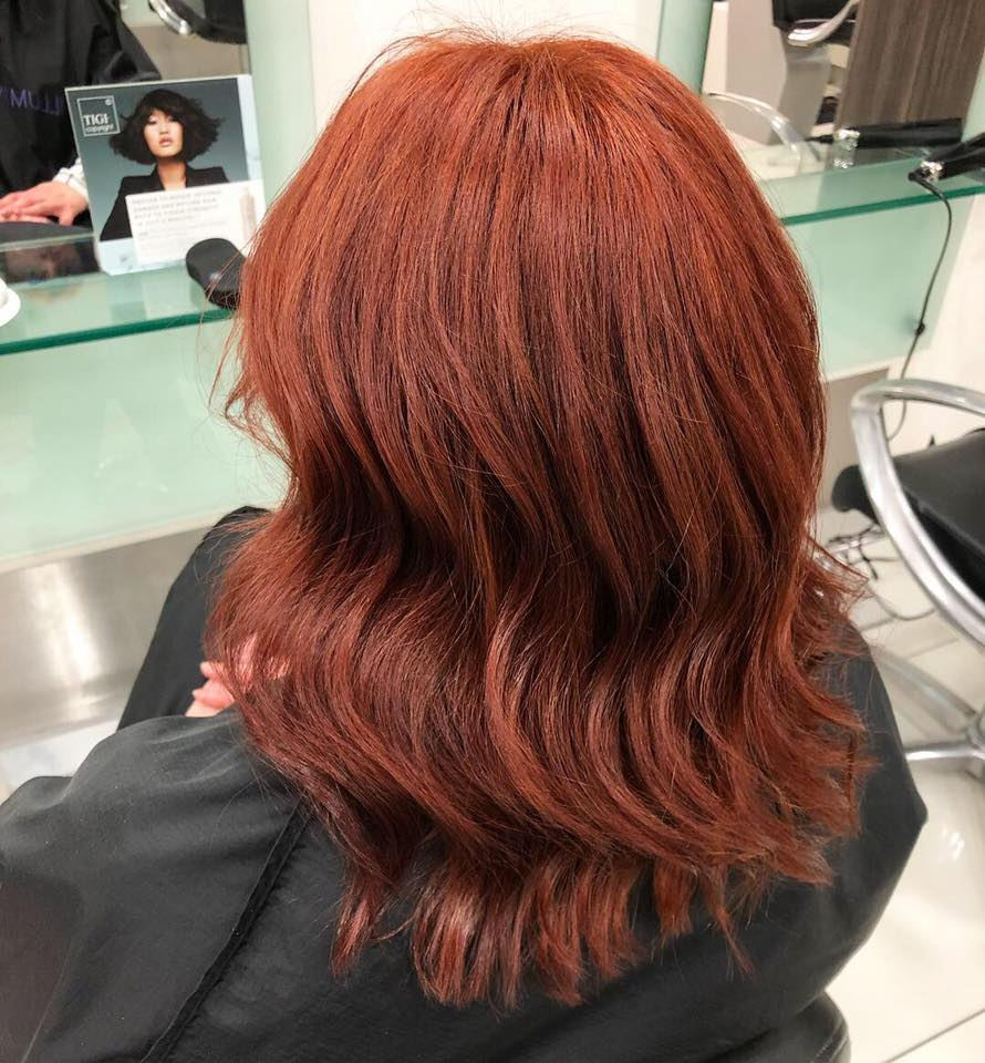 Salon professional quality red colour