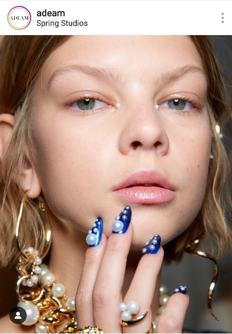Nails Pearls OPI Fashion Week