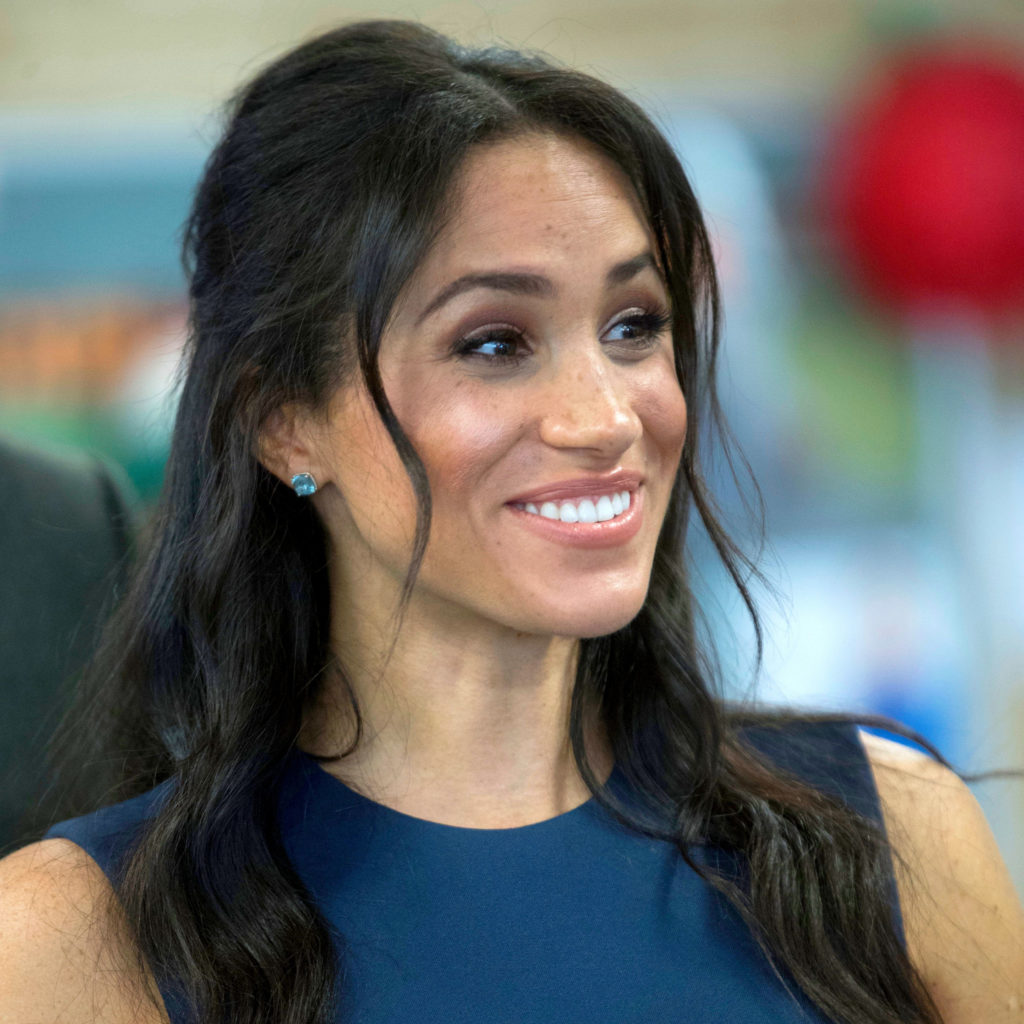 Mandatory Credit: Photo by REX/Shutterstock (9937807bi) Meghan Duchess of Sussex during a visit to Macarthur Girls High School in Sydney, Australia, on day four of their Royal Tour Prince Harry and Meghan Duchess of Sussex tour of Australia - 19 Oct 2018