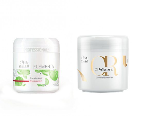 Wella Elements Mask and Wella Oil Reflections Mask