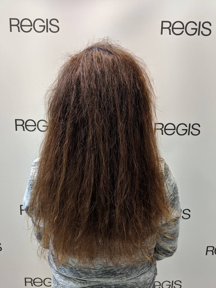 unruly hair prior to using the ghd Glide