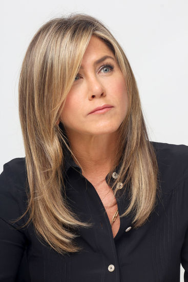 Swooping fringe Jennifer Aniston