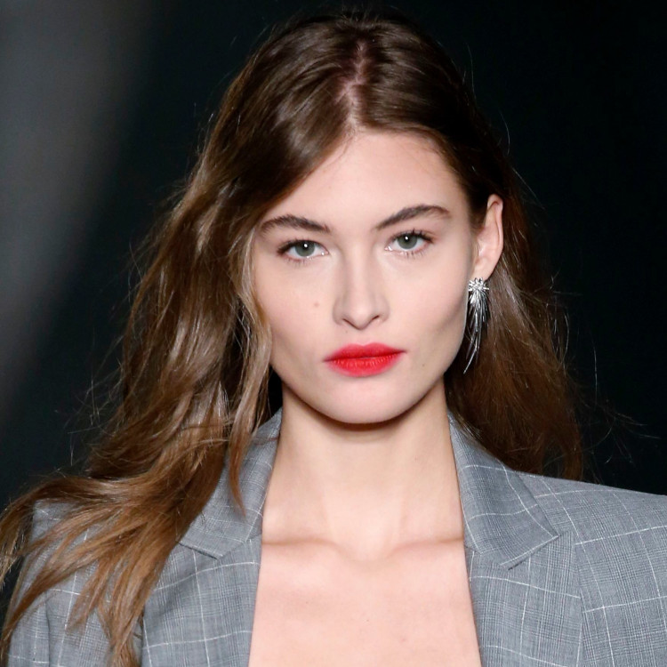 Zadig and Voltaire show long off centre parting model