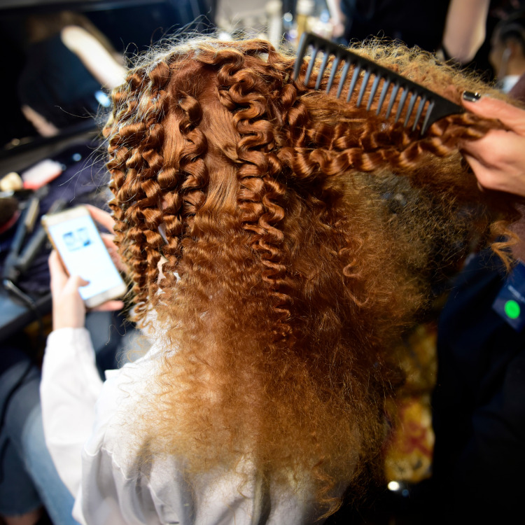Michael Kors show hair backstage