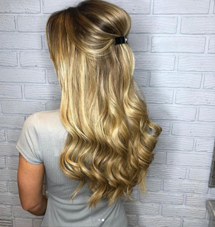 Valentine's Hairstyles Dani Dyer Half Up Waves