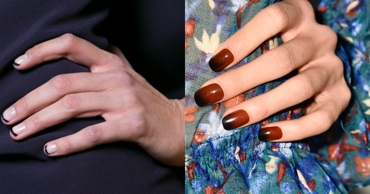 AW16 Nails Dark Tips