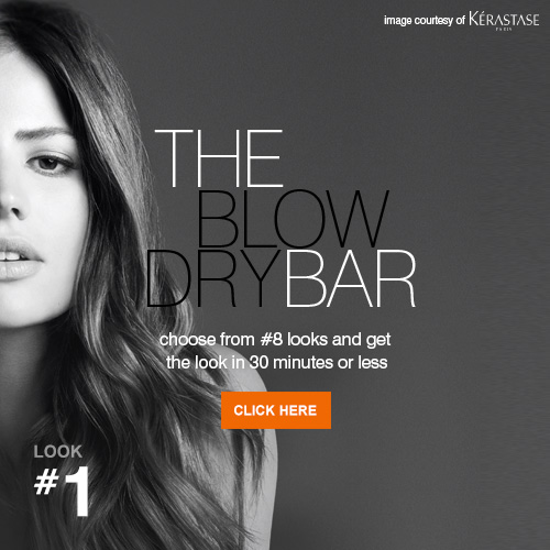 Blow Dry Menu - View Offer