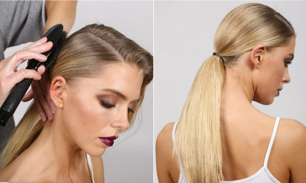 regis glamorous low ponytail how to guide