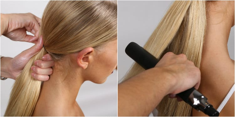 regis glamorous ponytail how to guide 3-4